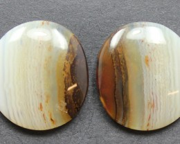 20.55 CTS WYOMING AGATE PAIR PERFECT FOR EARRINGS
