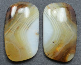 26.20  CTS WYOMING AGATE PAIR PERFECT FOR EARRINGS