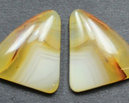 15.05 CTS WYOMING AGATE PAIR PERFECT FOR EARRINGS