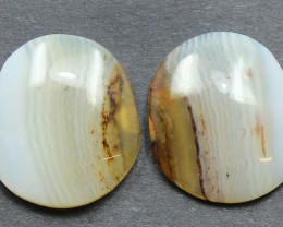 18.15  CTS WYOMING AGATE PAIR PERFECT FOR EARRINGS