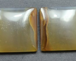 34.25 CTS WYOMING AGATE PAIR PERFECT FOR EARRINGS