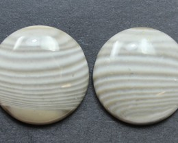 28.60 CTS IMPERIAL JASPER PAIR PERFECT FOR EARRINGS