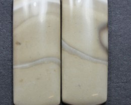 34.25 CTS IMPERIAL JASPER PAIR PERFECT FOR EARRINGS