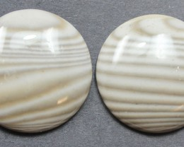 32.60 CTS IMPERIAL JASPER PAIR PERFECT FOR EARRINGS