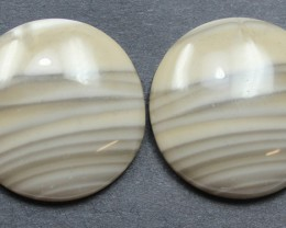 37.70 CTS IMPERIAL JASPER PAIR PERFECT FOR EARRINGS