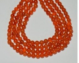 "NEW ITEM CARNELIAN round gemstone beads  6-7mm 14"" line"