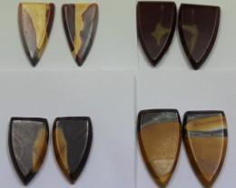 46.50 CTS -  4 SETS OF MOOKAITE JASPER  PAIR PARCEL DEAL