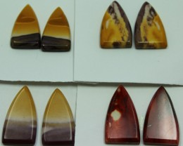 54.50 CTS -  4 SETS OF MOOKAITE JASPER  PAIR PARCEL DEAL