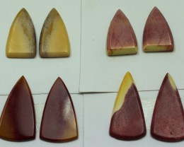 36 CTS -  4 SETS OF MOOKAITE JASPER  PAIR PARCEL DEAL