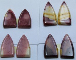 51.50 CTS -  4 SETS OF MOOKAITE JASPER  PAIR PARCEL DEAL