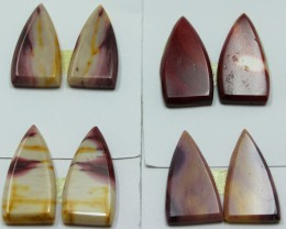 55.50 CTS -  4 SETS OF MOOKAITE JASPER  PAIR PARCEL DEAL