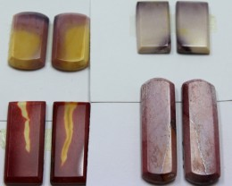 57.10 CTS -  4 SETS OF MOOKAITE JASPER  PAIR PARCEL DEAL