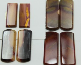 89.00 CTS -  4 SETS OF MOOKAITE JASPER  PAIR PARCEL DEAL