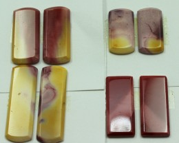 61.50 CTS -  4 SETS OF MOOKAITE JASPER  PAIR PARCEL DEAL