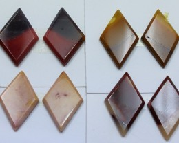 75.00 CTS -  4 SETS OF MOOKAITE JASPER  PAIR PARCEL DEAL