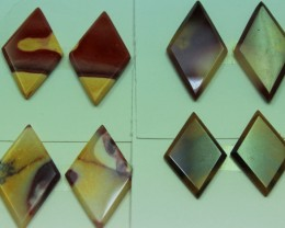 52.00 CTS -  4 SETS OF MOOKAITE JASPER  PAIR PARCEL DEAL