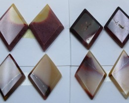 77.35 CTS -  4 SETS OF MOOKAITE JASPER  PAIR PARCEL DEAL