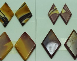 47.50 CTS -  4 SETS OF MOOKAITE JASPER  PAIR PARCEL DEAL