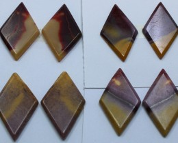 65.00 CTS -  4 SETS OF MOOKAITE JASPER  PAIR PARCEL DEAL