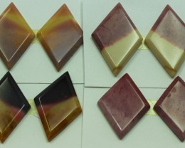 83.00 CTS -  4 SETS OF MOOKAITE JASPER  PAIR PARCEL DEAL
