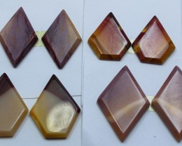 57.50 CTS -  4 SETS OF MOOKAITE JASPER  PAIR PARCEL DEAL