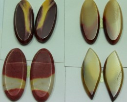 56.00 CTS -  4 SETS OF MOOKAITE JASPER  PAIR PARCEL DEAL