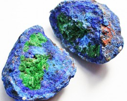 91.09 CTS AZURITE AND MALACHITE NODULE PAIR [MGW2412]