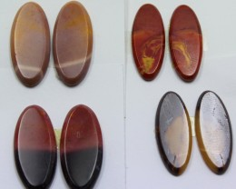 59.20 CTS -  4 SETS OF MOOKAITE JASPER  PAIR PARCEL DEAL