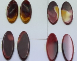 42.00 CTS -  4 SETS OF MOOKAITE JASPER  PAIR PARCEL DEAL
