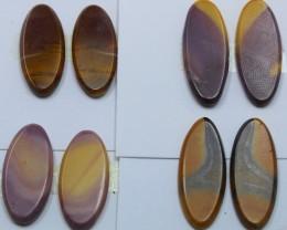 40.50 CTS -  4 SETS OF MOOKAITE JASPER  PAIR PARCEL DEAL