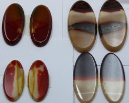 68.00 CTS -  4 SETS OF MOOKAITE JASPER  PAIR PARCEL DEAL