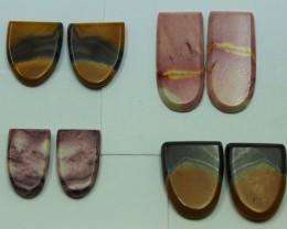 41.50 CTS -  4 SETS OF MOOKAITE JASPER  PAIR PARCEL DEAL
