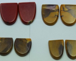 47.00 CTS -  4 SETS OF MOOKAITE JASPER  PAIR PARCEL DEAL