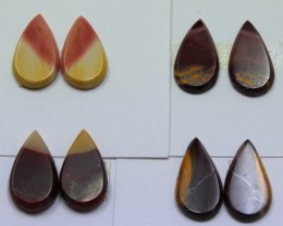 31.50 CTS -  4 SETS OF MOOKAITE JASPER  PAIR PARCEL DEAL