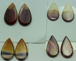 27.00 CTS -  4 SETS OF MOOKAITE JASPER  PAIR PARCEL DEAL