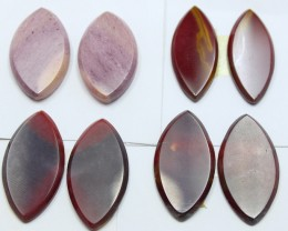 90.00 CTS -  4 SETS OF MOOKAITE JASPER  PAIR PARCEL DEAL