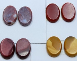 57.00 CTS -  4 SETS OF MOOKAITE JASPER  PAIR PARCEL DEAL
