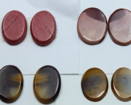 38.00 CTS -  4 SETS OF MOOKAITE JASPER  PAIR PARCEL DEAL