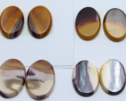 50.00 CTS -  4 SETS OF MOOKAITE JASPER  PAIR PARCEL DEAL