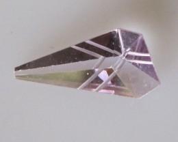 "Amethyst Fancy Shape with ""Laser"" Cuts, 0.95cts"