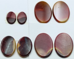 71.90 CTS -  4 SETS OF MOOKAITE JASPER  PAIR PARCEL DEAL
