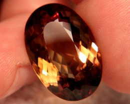 CERTIFIED - 33.23 Ct. Natural IF/VVS1 South American Topaz
