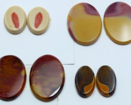 63.50 CTS -  4 SETS OF MOOKAITE JASPER  PAIR PARCEL DEAL