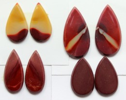71.50 CTS -  4 SETS OF MOOKAITE JASPER  PAIR PARCEL DEAL