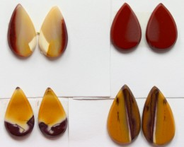 32.50 CTS -  4 SETS OF MOOKAITE JASPER  PAIR PARCEL DEAL