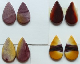27.50 CTS -  4 SETS OF MOOKAITE JASPER  PAIR PARCEL DEAL