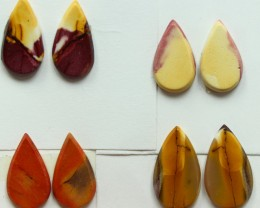 25.50 CTS -  4 SETS OF MOOKAITE JASPER  PAIR PARCEL DEAL
