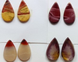 33.80 CTS -  4 SETS OF MOOKAITE JASPER  PAIR PARCEL DEAL
