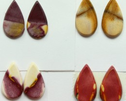 24.50 CTS -  4 SETS OF MOOKAITE JASPER  PAIR PARCEL DEAL