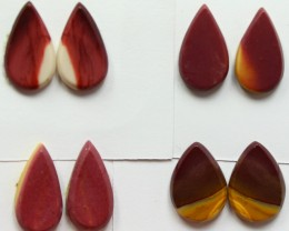 28.00 CTS -  4 SETS OF MOOKAITE JASPER  PAIR PARCEL DEAL